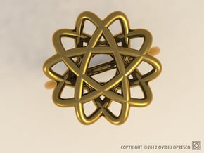 """Double-o #5 – """"Wire Ring"""" in Polished Gold Steel"""