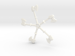 Power Axes 28mm scale in White Processed Versatile Plastic