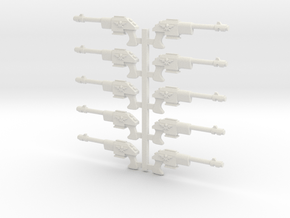 Lasguns or Autoguns 28mm scale in White Natural Versatile Plastic