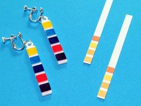 pH Litmus Paper Earrings in White Processed Versatile Plastic