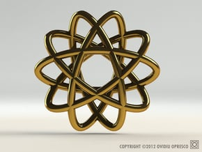 Star Award – Pendant in Polished Gold Steel