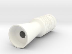 Flash Hider Luke in White Processed Versatile Plastic