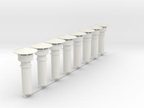 8 Cheminees Remise Toprint V2 in White Natural Versatile Plastic