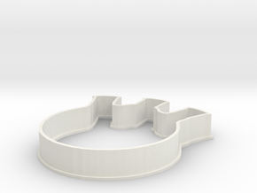 Flask Cookie Cutter in White Natural Versatile Plastic