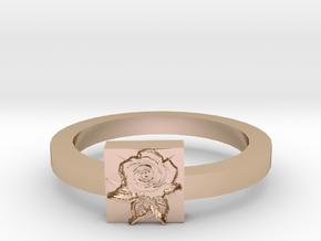 Rose Ring in 14k Rose Gold