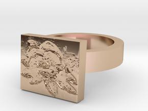 Violets Ring in 14k Rose Gold