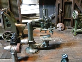 Radial Drill Press HO Scale in Smooth Fine Detail Plastic