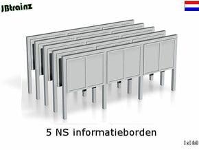 5 NS informatieborden (n-scale) in Smooth Fine Detail Plastic