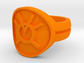 Orange Avarice Double Banded Sz 6 in Orange Processed Versatile Plastic