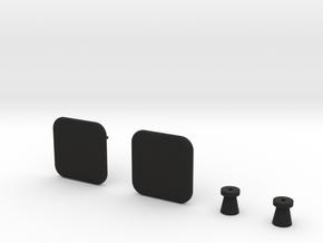 'SQUARE' - New in Black Natural Versatile Plastic