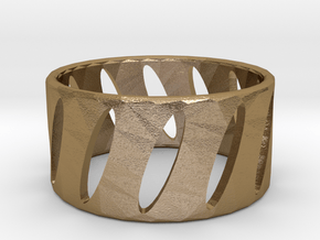 Ring1 in Polished Gold Steel