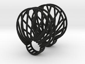 parameters | clamshell ring 2 in Black Natural Versatile Plastic