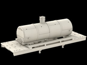 N Scale West Side Tank Car #2 in Smooth Fine Detail Plastic