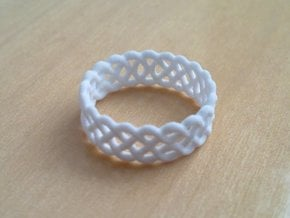 Celtic Ring - 16mm ⌀ in White Natural Versatile Plastic