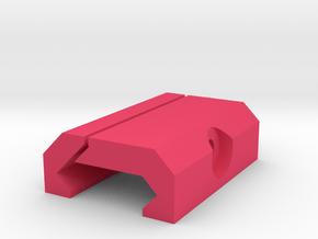 DIY Picatinny Mount (40 mm) in Pink Processed Versatile Plastic