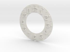 Hudson Clock Numbers - Raised in White Natural Versatile Plastic