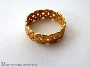 Double-o Hallmark Ring in Polished Gold Steel