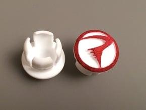 Bar End Caps Pinarello in White Natural Versatile Plastic