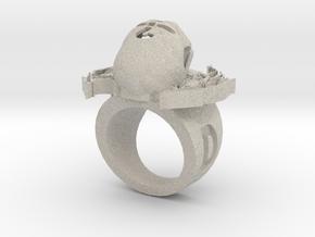 new skull ring in Natural Sandstone