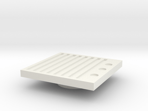 Blanking Grate #2 (n scale) in White Natural Versatile Plastic