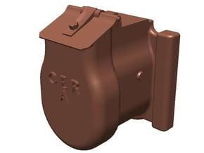 GER Axle Box type A - 7mm flat in Smooth Fine Detail Plastic