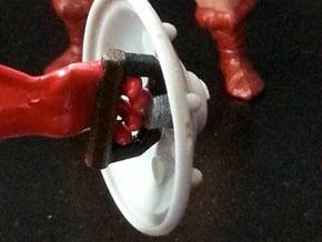 1980s MOTU shield handle sized for Skeletor in White Processed Versatile Plastic