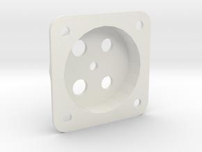 Fascia Mount for Tam Valley Servo Controls in White Natural Versatile Plastic