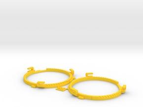 66.5mm Lens Separators | Oculus Rift DK2 in Yellow Processed Versatile Plastic