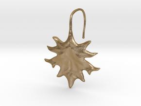 Oak Leaf Earring (~16 gauge wire thickness) in Polished Gold Steel