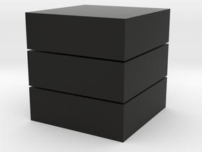 Cubic 1x1x3 2cm in Black Natural Versatile Plastic