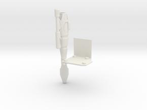 Left Shoulder Rocket MP-10 in White Natural Versatile Plastic