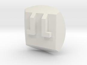 Bionicle - Nuva Symbol - Fire in White Natural Versatile Plastic