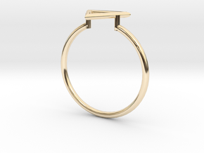Open Triangle Ring Sz. 6 in 14K Yellow Gold