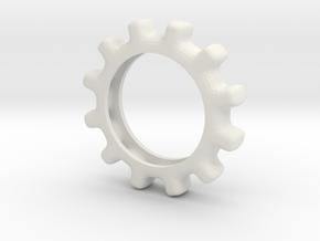Gear in White Natural Versatile Plastic