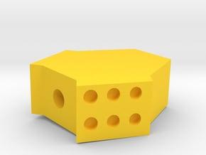 Hound Airsoft Muzzle Suppressor (14mm Self-Cutting in Yellow Processed Versatile Plastic