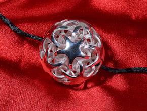 Quintrino Pendant in Polished Silver