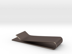 Mocci Money Clip in Polished Bronzed Silver Steel