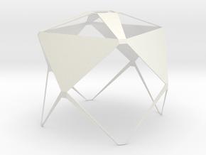 Lampe Shade - skeleton in White Natural Versatile Plastic