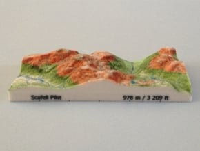 Scafell Pike - Relief in Full Color Sandstone