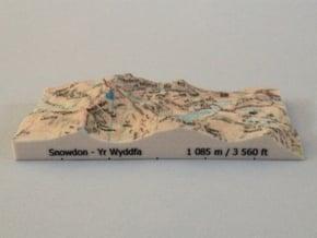 Snowdon - Map in Full Color Sandstone