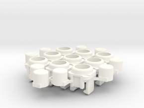 Micro arcade buttons in White Processed Versatile Plastic