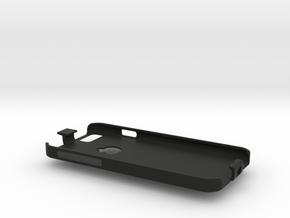 iPhone 6 case with lanyard loop in Black Natural Versatile Plastic