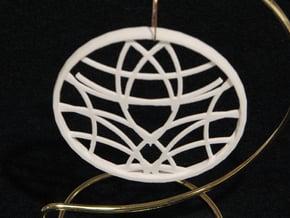 Ornament 01d in White Natural Versatile Plastic