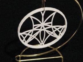 Ornament 01e in White Natural Versatile Plastic