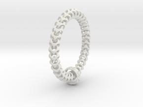 Cubichain Bracelet (Multiple sizes) in White Natural Versatile Plastic: Small