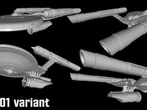 """Federated Cruiser X-02 """"Endeavour"""" in White Natural Versatile Plastic"""