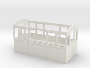 Wagenkasten-5-Fenster in White Natural Versatile Plastic