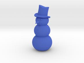Snowman, Standing in Blue Processed Versatile Plastic