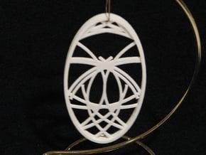 Ornament 02f in White Natural Versatile Plastic