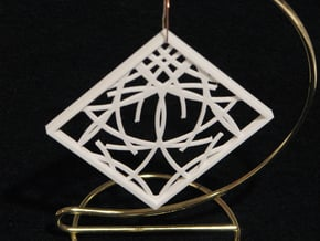 Ornament 03d in White Natural Versatile Plastic